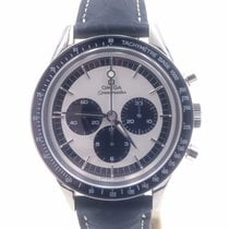 Omega Speedmaster Professional Moonwatch pre-owned 40mm Silver Chronograph Crocodile skin