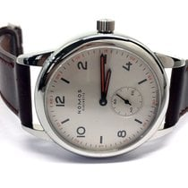 NOMOS Club Automat Staal 40mm Wit Arabisch