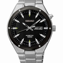 Seiko Kinetic Steel 42.5mm Black