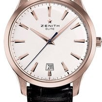 Zenith Captain Central Second Ruzicasto zlato 40mm Bjel