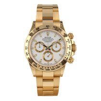 Rolex Daytona pre-owned 40mm White Chronograph Yellow gold