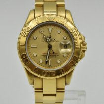 Rolex Yacht-Master Yellow gold 29mm Champagne No numerals