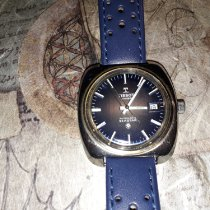 Tissot Steel Automatic Blue No numerals 37mm pre-owned Couturier