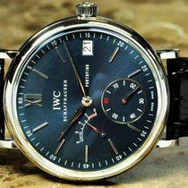 IWC Portofino Hand Wound Eight Days Blue Dial box papers