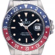Rolex GMT Master rot blau Pepsi Stahl Automatik Armband Jubilé...
