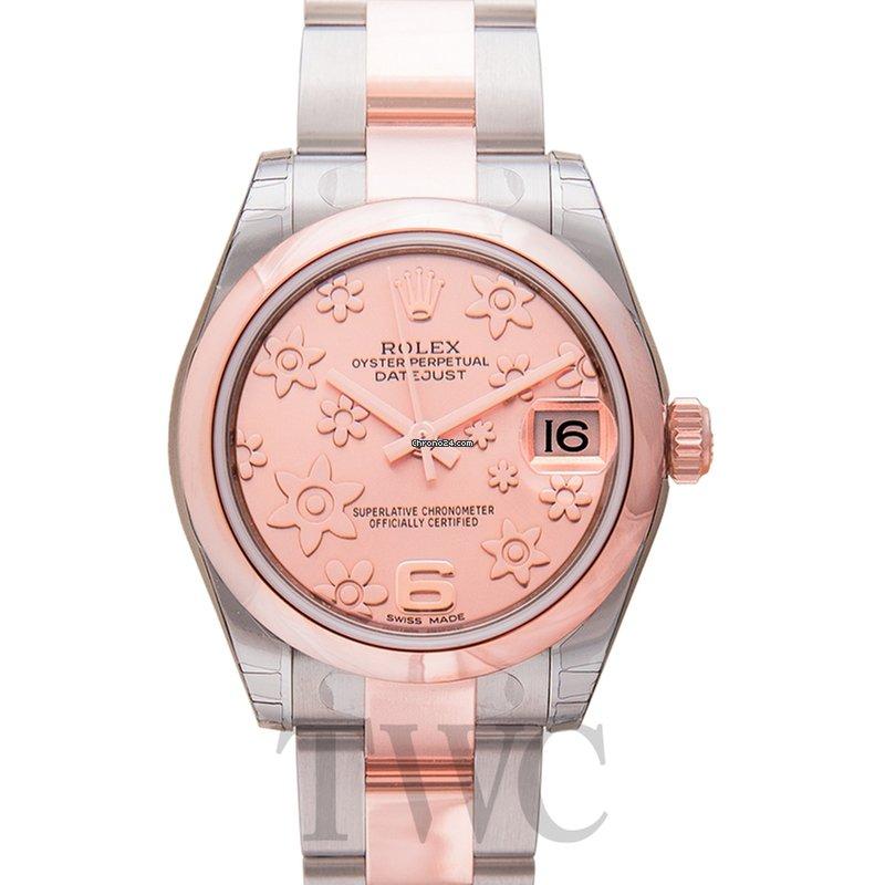best sneakers 214c7 25805 Rolex Datejust 31 Rolesor Everose Domed / Oyster / Pink Floral - 1