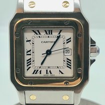 Cartier Santos Galbee 18 k gold automatic date Medium size