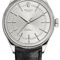 Rolex Cellini Time Белое золото 39mm Белый
