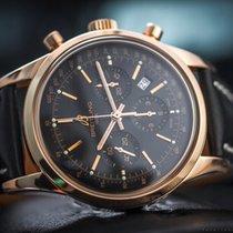 Breitling Transocean Chronograph gebraucht 43mm Schwarz Chronograph Datum Krokodilleder