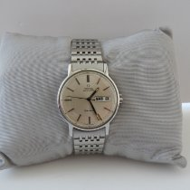 Omega Genève Steel 35mm White No numerals