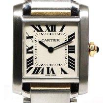 Cartier Acero y oro Cuarzo W2TA0003 usados