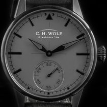 C.H. Wolf Steel Automatic Grey No numerals 45mm new