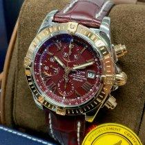 Breitling Chronomat Evolution Guld/Stål 44mm Bordeaux Romertal