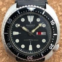 Seiko Steel 44mm Black No numerals