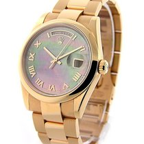 Rolex Used 118205 Rose Gold Mens President Day Date - Smooth...
