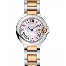 Cartier W2BB0009 Ballon Bleu in Steel and Rose Gold - On Steel...