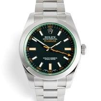 "Rolex Milgauss ""Green Glass"" 5 Year Warranty"