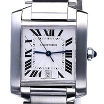 Cartier Tank Francaise Steel Large Guilloche 32 x 28 mm (Full...