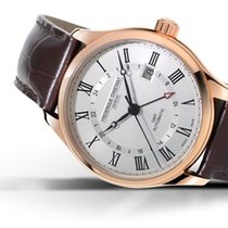 Frederique Constant Classics Index GMT rose gold plated...
