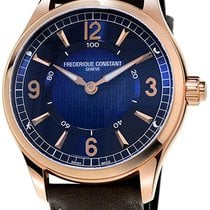 Frederique Constant Horological Smartwatch Staal Blauw