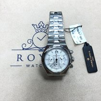 Vacheron Constantin Chronograph 42.5mm Automatic 2016 new Overseas Chronograph Silver
