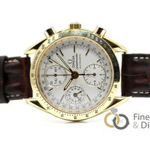 Omega Yellow gold Automatic White No numerals 39mm pre-owned Speedmaster Date