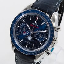 Omega Speedmaster Professional Moonwatch Moonphase Сталь 44,25mm Синий Без цифр