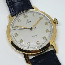 Rolex Yellow gold Manual winding White Arabic numerals pre-owned Oyster Precision