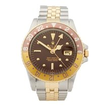 Rolex GMT-Master Gold/Steel 40mm Brown