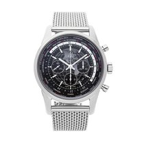 Breitling Transocean Chronograph Unitime Steel 46mm Black No numerals