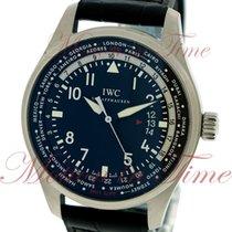 IWC Pilot Worldtimer Steel 45mm Black Arabic numerals United States of America, New York, New York