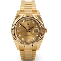 Rolex DAY-DATE II 41mm 18K Yellow Gold Diamond Dial