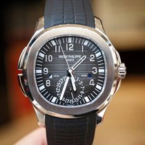 Patek Philippe Aquanaut Dual Time Black Dial Automatic Steel ...