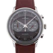 Junghans Meister Driver Chronoscope 41 Red Leather