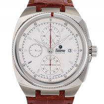 Tutima Saxon One Chronograph Stahl Automatik Lederband...