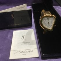 Yves Saint Laurent Gult guld 30mm Automatisk Serial number 27564 ny