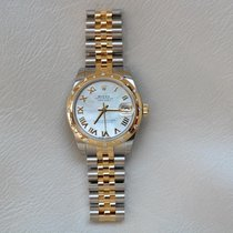 Rolex Lady-Datejust Gold/Steel 31mm Mother of pearl Roman numerals UAE, Gold and Diamond Park Bldg 5 Shop 6 Dubai
