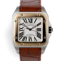 Cartier Santos 100 pre-owned 38mm Gold/Steel
