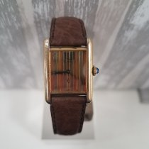 Cartier Plata Cuerda manual usados Tank (submodel)