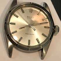 Rolex 34mm Manual winding pre-owned Oyster Precision Silver