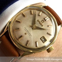 Omega Constellation 168005 168.005 AUTOMATIK AUTOMATIC SOLID GOLD 14CT CHRONOMETER CALENDAR DATE 1964 pre-owned