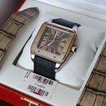 Cartier Santos 100 pre-owned Crocodile skin