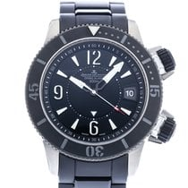 Jaeger-LeCoultre Master Compressor Diving Alarm Navy SEALs pre-owned 44mm Black Date Alarm Rubber