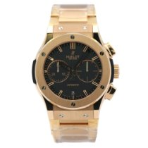 Hublot Classic Fusion Chronograph pre-owned 45mm Black Chronograph Date Rose gold