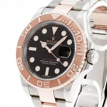 Rolex Yacht-Master 40 pre-owned 40mm Black Date Gold/Steel