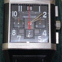 Jaeger-LeCoultre Reverso Squadra Chronograph GMT Acero 35mm Negro Sin cifras