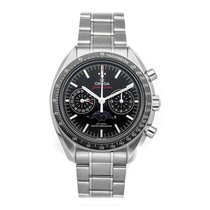 Omega Speedmaster Professional Moonwatch Moonphase occasion 44.2mm Noir Phase lunaire Chronographe Date Tachymètre Plis