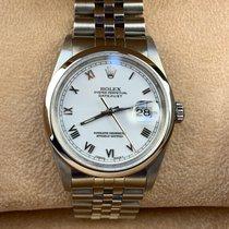 Rolex Datejust Acero 36mm Blanco Romanos