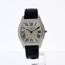 Cartier Tortue White Gold Ladies Watch with 57 diamonds