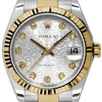 Rolex Datejust, Ref. 178273 - silber Jubi Diamant ZB/Oysterband